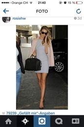 dress,grey dress,mini dress,rosie huntington-whiteley,vogue,watch,elegance