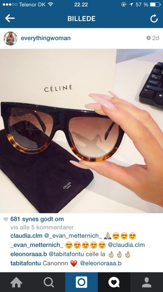 sunglasses céline sunnies glasse céline paris sunnies sunglasses black vintage sylish style fashion jumpsuit dress hat hair accessory face make-up celine prada
