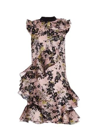 dress floral print silk light pink light pink