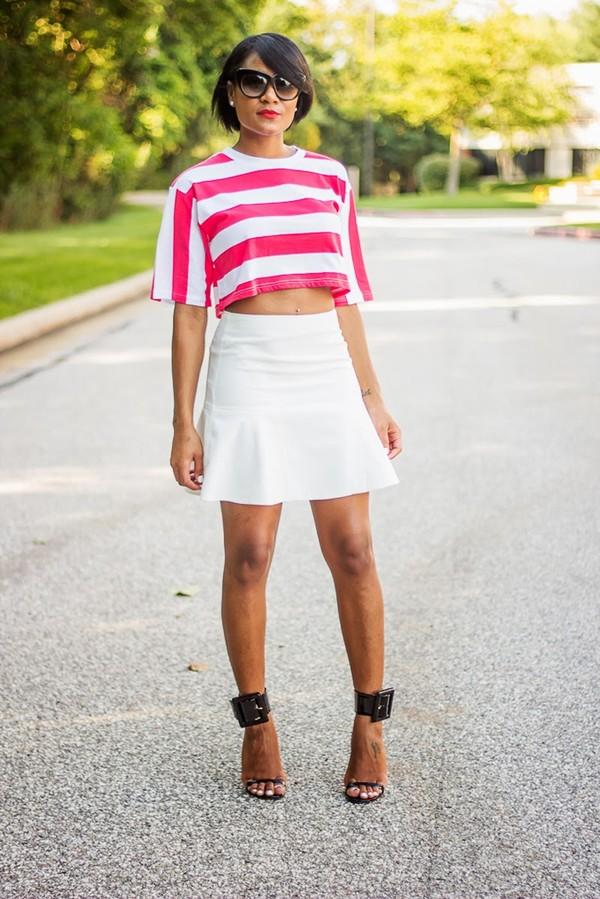 the daileigh t-shirt skirt sunglasses shoes