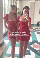 dress,red,floral,wolfiecindy,cindy kimberly