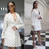 shoes,sandals,dress,rihanna,embellished,paris fashion week 2016,sunglasses