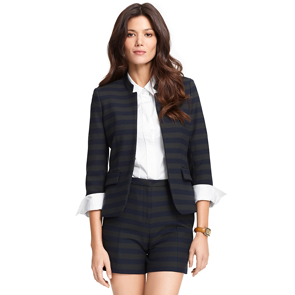 Stripe Inverted Collar Blazer | Tommy Hilfiger USA