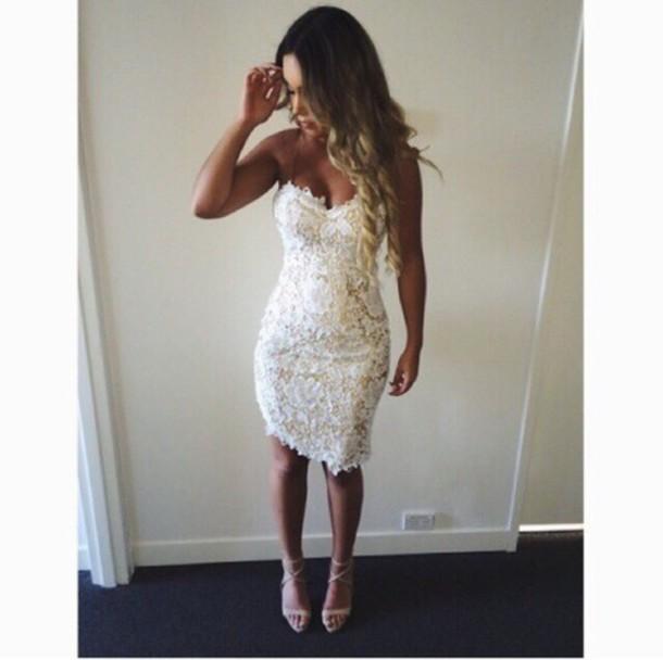 dress lace white dres little white dress white dress white lace dress white bodycon bodycon dress bodycon dress