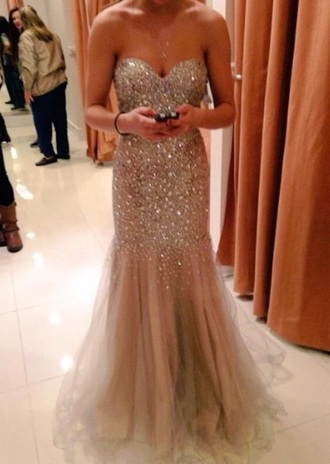 dress gold sequins mermaid prom dresses prom dress
