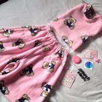 tessdy bears baby doll skirt pink acacia brinley