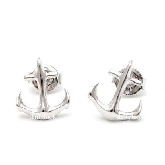 anchor jewels anchor earrings anchor studs men studs man earrings anchor jewelry silver studs silver earrings