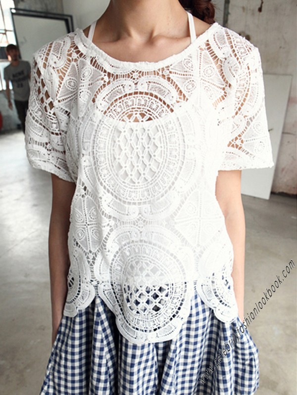 Plain fashion tops