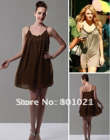 Serena Column Spaghetti Straps Short/Mini Cocktail/Homecoming/Gossip Girl Fashion Dress-in Celebrity-Inspired Dresses from Apparel & Accessories on Aliexpress.com