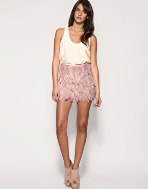 Asos black feather skirt at asos