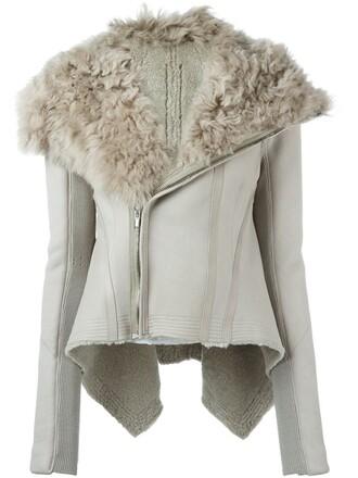 jacket biker jacket asymmetrical nude