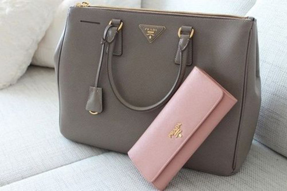 bag prada grey
