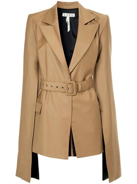 Liya blazer women cotton brown jacket
