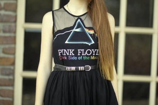 dress black dress pink floyd