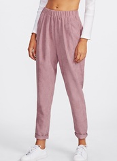 pants,girly,pink,cord trousers,corderouy