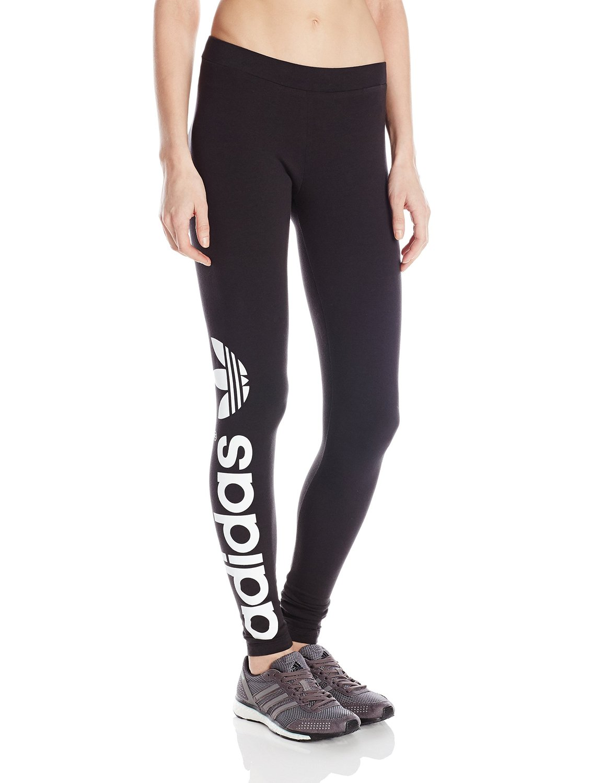 adidas originals women 39 s trefoil leggings x small black white clothing. Black Bedroom Furniture Sets. Home Design Ideas