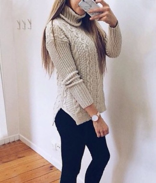 Sweater Grey Grey Sweater Fashion Clothes Instagram Pinterest Knitwear Knitted Sweater