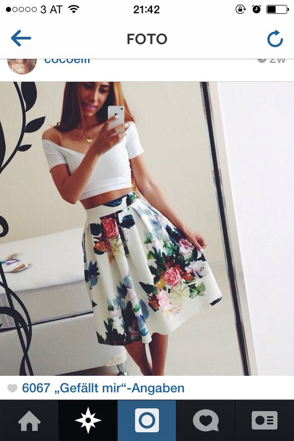 skater skirt high heels high waisted prom dress floral skirt crop tops high waisted shorts roses