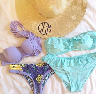 swimwear purple swimwear