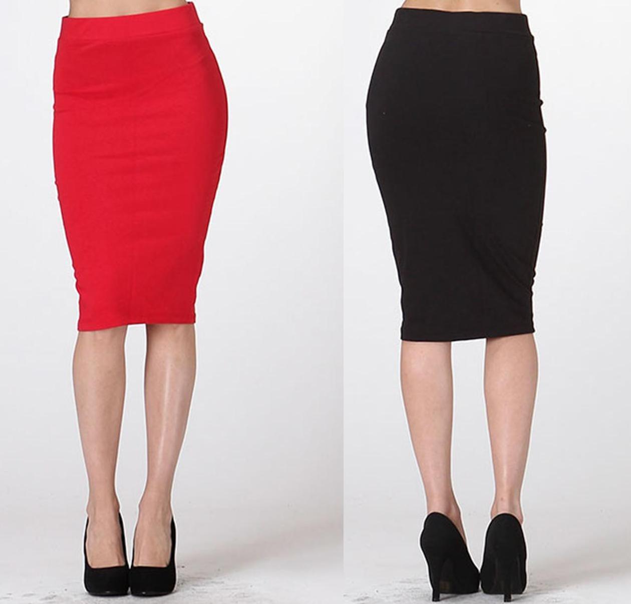 Fitted midi skirt · trendyish · online store powered by storenvy
