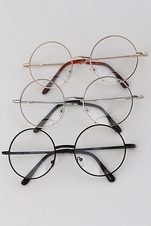 Clear Circle Frame Glasses