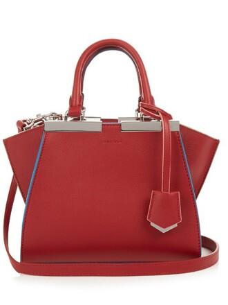 cross mini bag leather red
