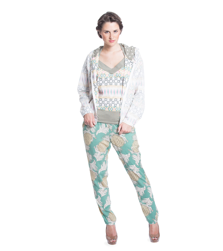 Blutsgeschwister | careless lightweight pants green paradise | M
