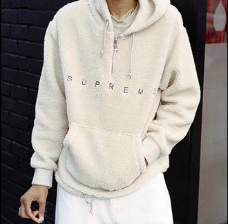 sweater supreme supreme jacket jacket cream supreme sweater