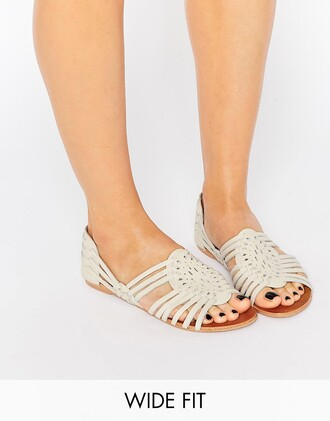 shoes white leather slip on shoes sandals wide fit