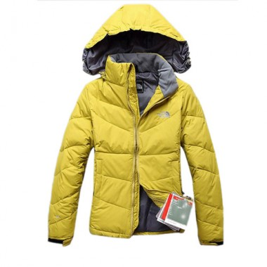 Yellow Womens The North Face Down Jacket Bj130053