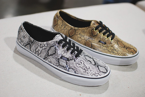 shoes cheetah print snake skin vans