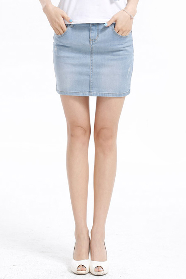 Must-Have Cool Girl Denim Skirt [FMCC0233] - PersunMall.com