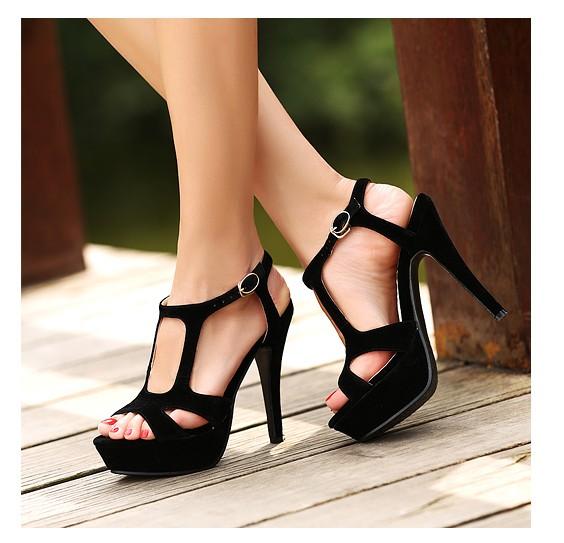 [Pre Order] SH2093 Velvet Strappy Heel Sandals