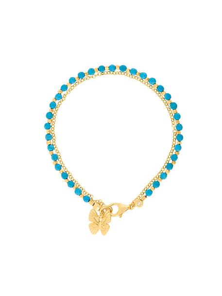 Astley Clarke women butterfly gold blue jewels