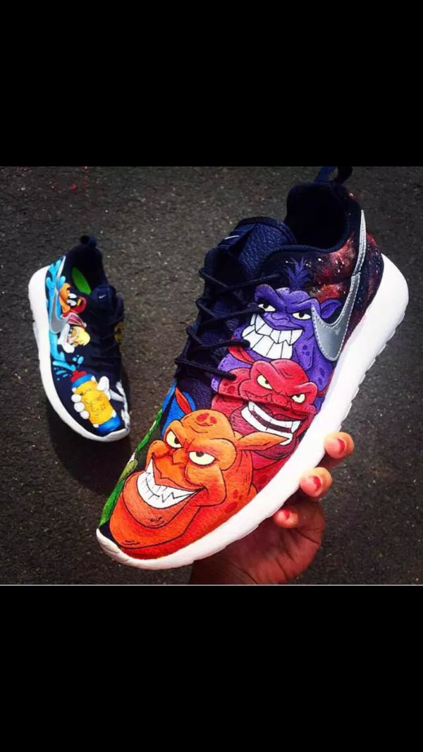 Shoes Cartoon Sneakers Space Jam Nike Looney Tunes