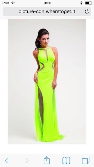 dress grenn green debs long neon dimonds silver slit dress long prom dress prom gown sexy prom dresses green dress
