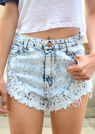 shorts denim denim shorts lace lace shorts denim lace