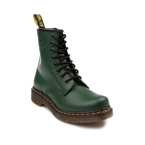 Womens Dr. Martens 1460 8-Eye Smooth Leather Boot, Green | Journeys Shoes