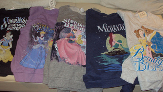 sweater beauty and the beast sleeping beauty sweatshirt disney princess the little mermaid cinderella snow white