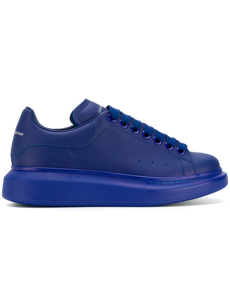 Alexander Mcqueen oversized women sneakers leather blue shoes