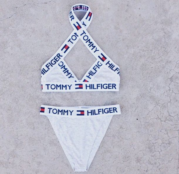 underwear tommyhilfige bra undies matching set set tommy hilfiger halter top white. Black Bedroom Furniture Sets. Home Design Ideas