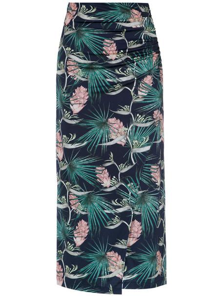 Tufi Duek - floral print midi skirt - women - Elastodiene/Viscose - G, Elastodiene/Viscose