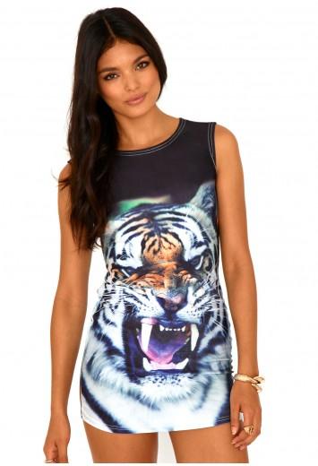 Prisha tiger print tunic
