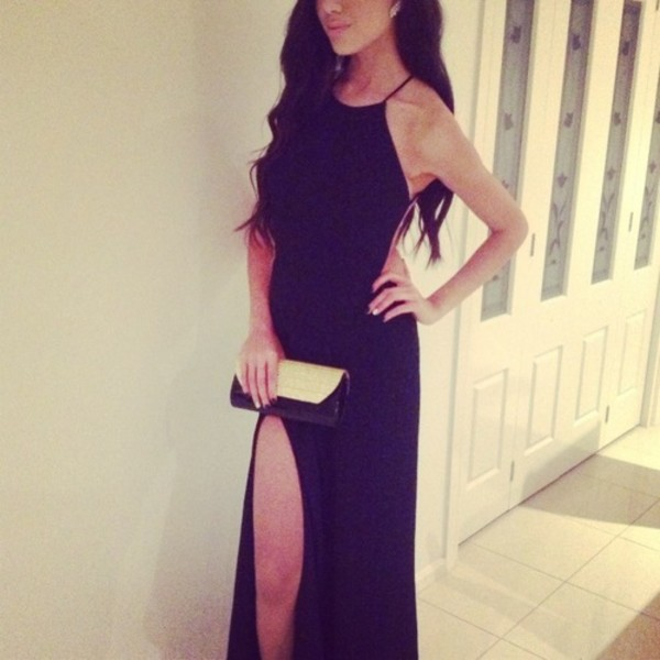 dress clothes black maxi dress black formal prom maxi beautiful high neck open back dresses maxi