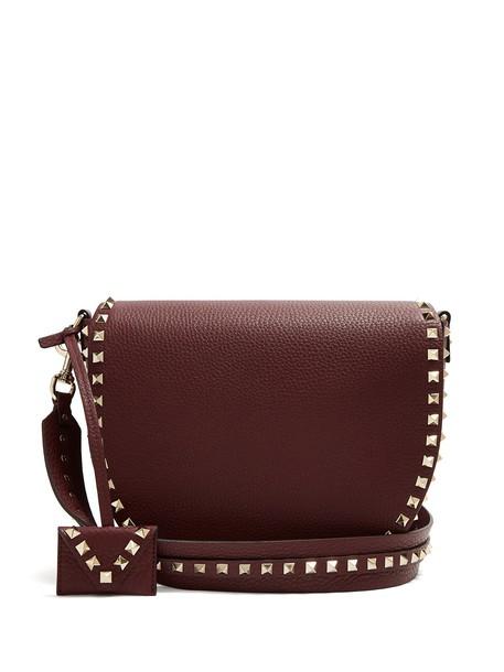 Valentino bag shoulder bag leather burgundy