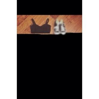black shirt black crop top crop tops bustier black bustier
