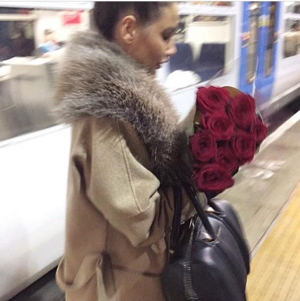 coat camel fur jacket