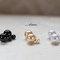 Pearl ear jackets two way faux pearl earrings, white, black, silver, yellow, large small pearl stud earrings, two ways modern minimalist