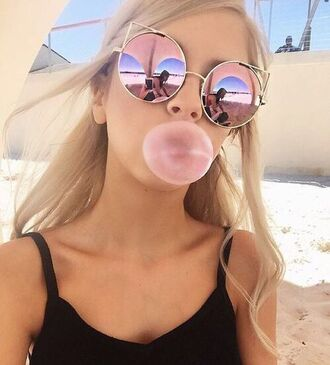 sunglasses cat eye pink ombre pink sunglasses shoes round sunglasses summer retro sunglasses cute pretty mirrored sunglasses cat look light pink