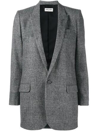 blazer women cotton silk wool grey jacket
